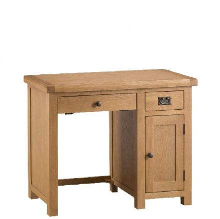 Oslo Oak Single Computer Desk